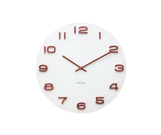 Reloj de pared vintage cobre blanco no disponible en - Relojes vintage de pared ...