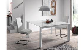 Mesa de comedor blanca Moderna Nagar