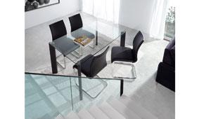 Mesa Sport cristal transparente - Mesas de Comedor de Diseño - Muebles de Diseño