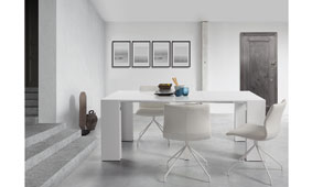 Consola mesa de comedor extensible Moderna Aden