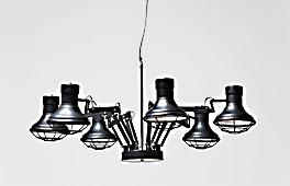 Lámpara de techo Araña Industrial