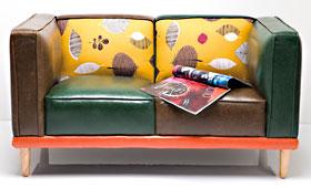 Sofá Vintage hoja
