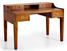 Mesa de escritorio 6 cajones Colonial Star - Mesas de Despacho y Escritorios Coloniales - Muebles Coloniales y Muebles Rústicos