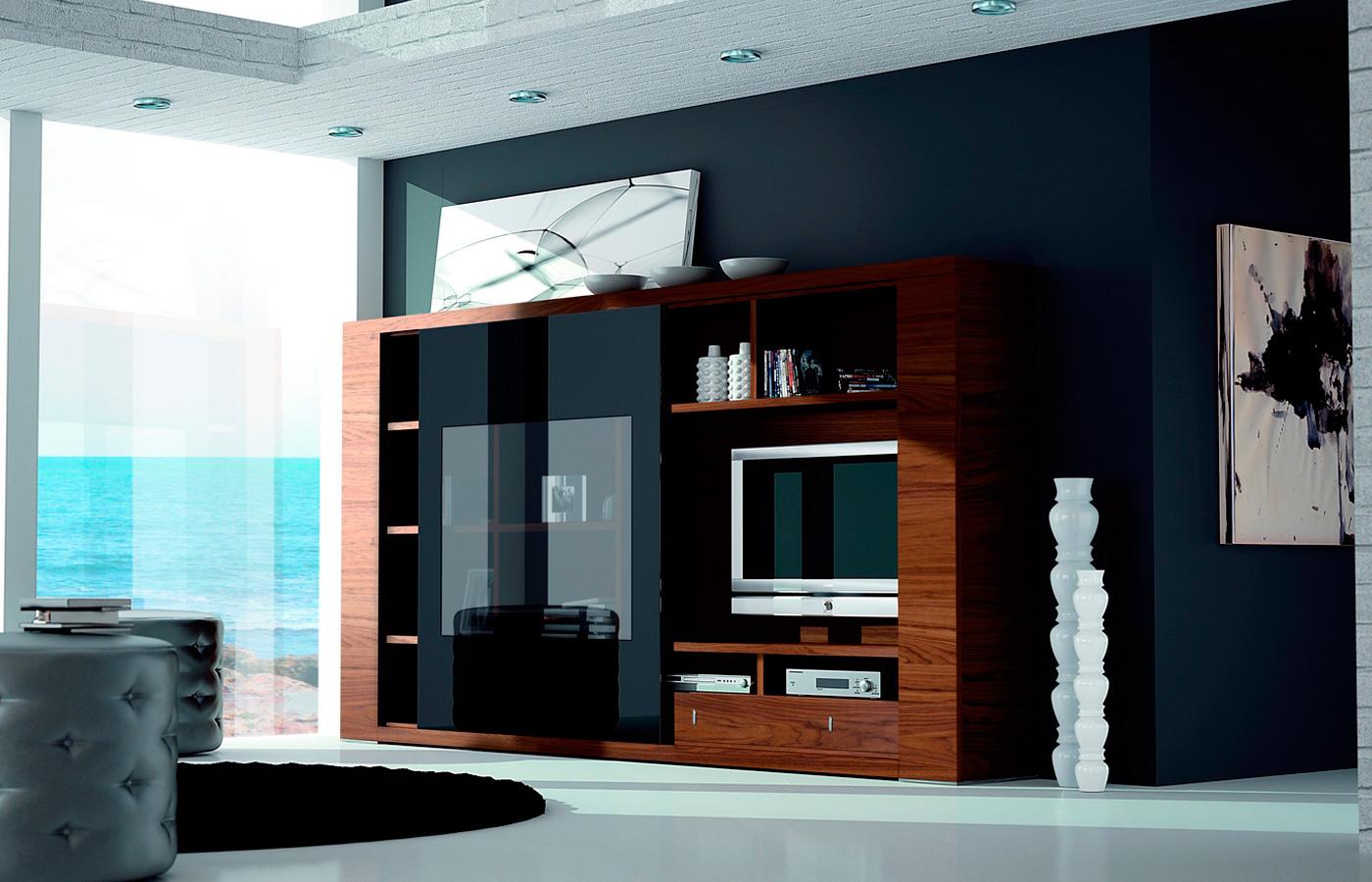 Mueble Sal N Compacto Moderno Exclusive De Lujo En  # Muebles Compactos