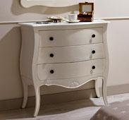Cómoda 3 cajones blanca Vintage París