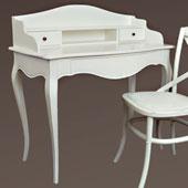 Mesa de escritorio blanca Vintage París