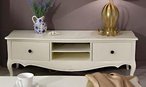 Mueble tv blanco Vintage París