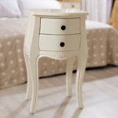 Mesilla 2 cajones blanca Vintage París