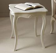 Mesa de rincón blanca Vintage París