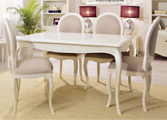 Mesa de comedor extensible blanca Vintage París - Mesas de Comedor Vintage - Muebles Vintage