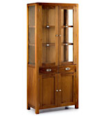 Vitrina 2 cajones Colonial Flash - Vitrinas Coloniales y Rústicas - Muebles Coloniales y Muebles Rústicos