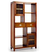 Librería 2 cajones Colonial Flamingo - Librerías Coloniales y Rústicas - Muebles Coloniales y Muebles Rústicos