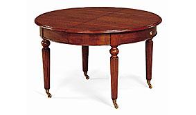 Mesa de comedor manivela clásica de madera extensible Lajo