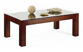 Mesa de centro clásica nogal rectangular Amamba