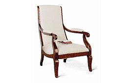 Sillón tapizado clásico blanco Rossa
