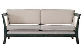 Sofa 3 plazas colonial tapizado blanco Racer