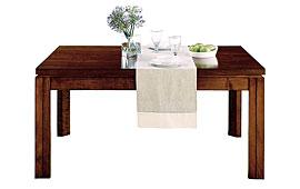 Mesa de comedor extensible madera recta
