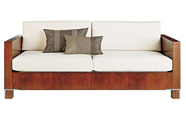 Sofa 3 plazas moderno tapizado blanco Drake