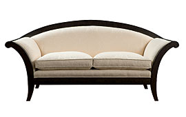 Sofá tapizado clásico blanco Venus