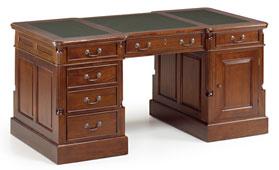 Mesa de escritorio 6 cajones vintage Panter