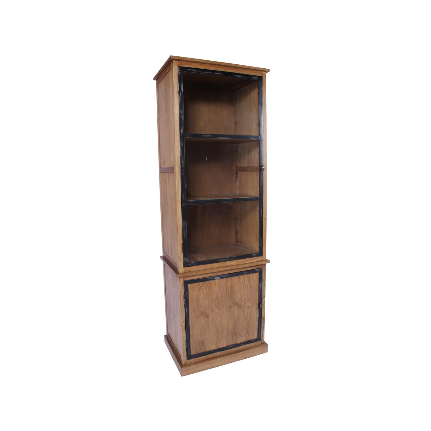 Vitrina roble y hierro dos puertas no disponible en for Mueble dos puertas