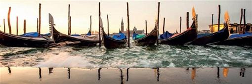 Cuadro Canvas Coucher de soleil sur Venise