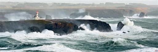 Cuadro Canvas Tempeté sul le phare