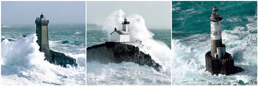 Cuadros Tríos Canvas Phares d´Iroise dans la tempe
