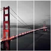 Cuadros Tríos Canvas Golden Gate