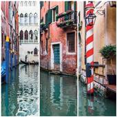 Cuadros Tríos Canvas Gondole e Venise