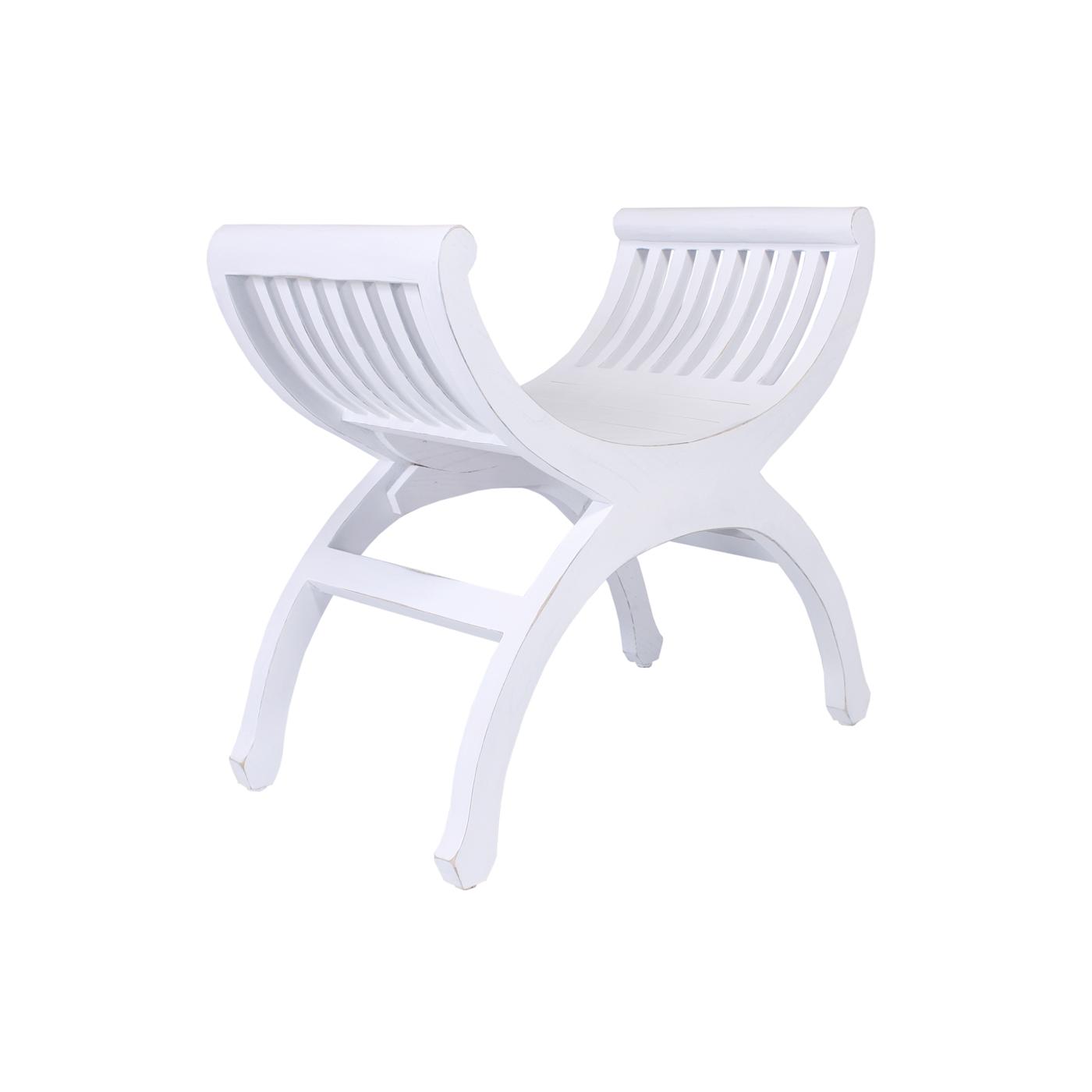 Banqueta oval blanco envejecido no disponible en - Muebles blanco envejecido ...