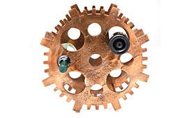 Botellero Gear cobre