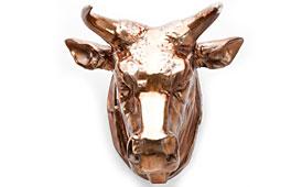 Cabeza decorativa de buffalo cobre