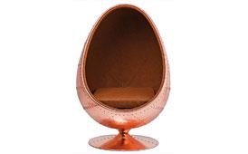 Sillon retro huevo en cobre