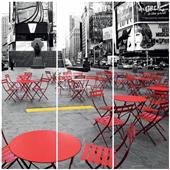 Cuadros Tríos Canvas Time Square-New York