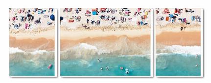 Cuadro Tríptico Canvas Baignade a Cannes