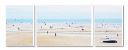 Cuadro Tríptico Canvas La plage de Men Du