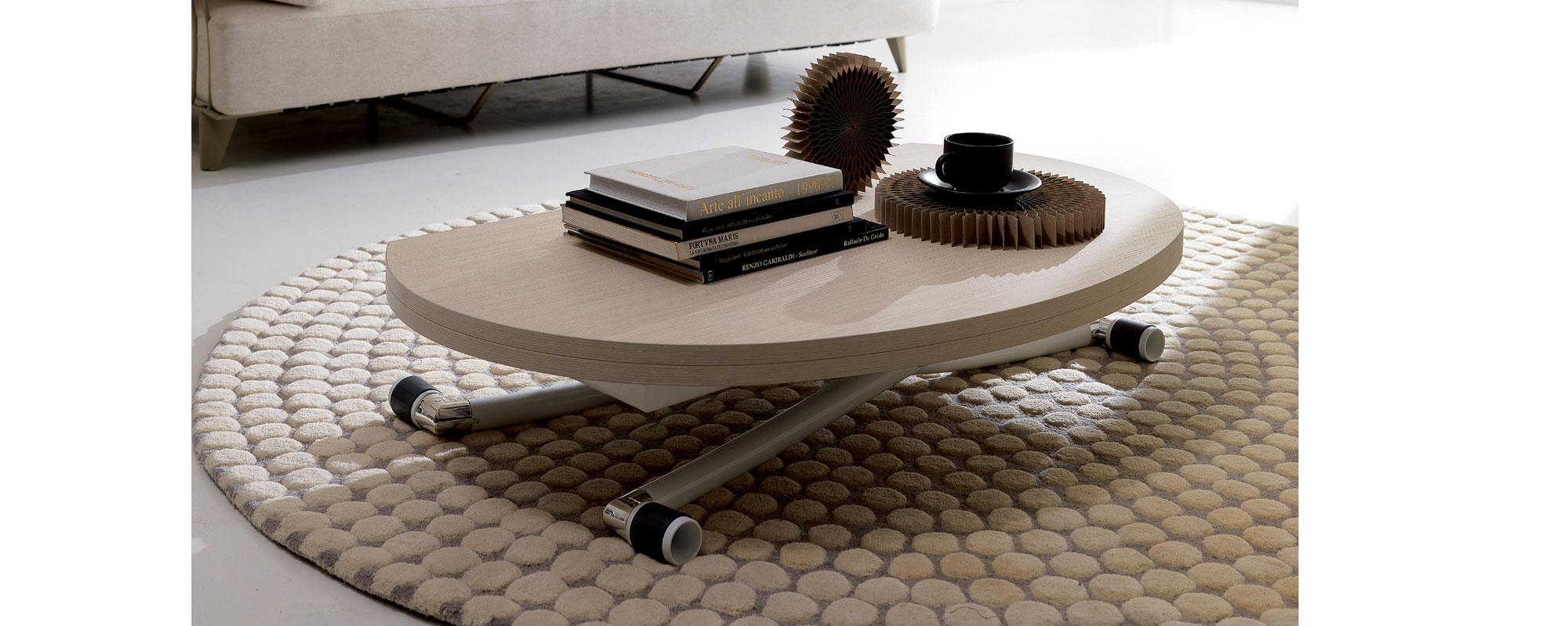 Mesa convertible a comedor moderna apple en cosas de - Mesa de centro convertible en mesa de comedor ...
