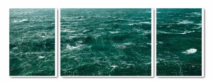 Cuadro Tríptico Canvas La mer