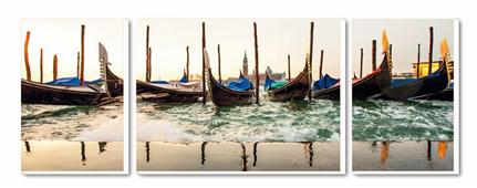 Cuadro Tríptico Canvas Venise