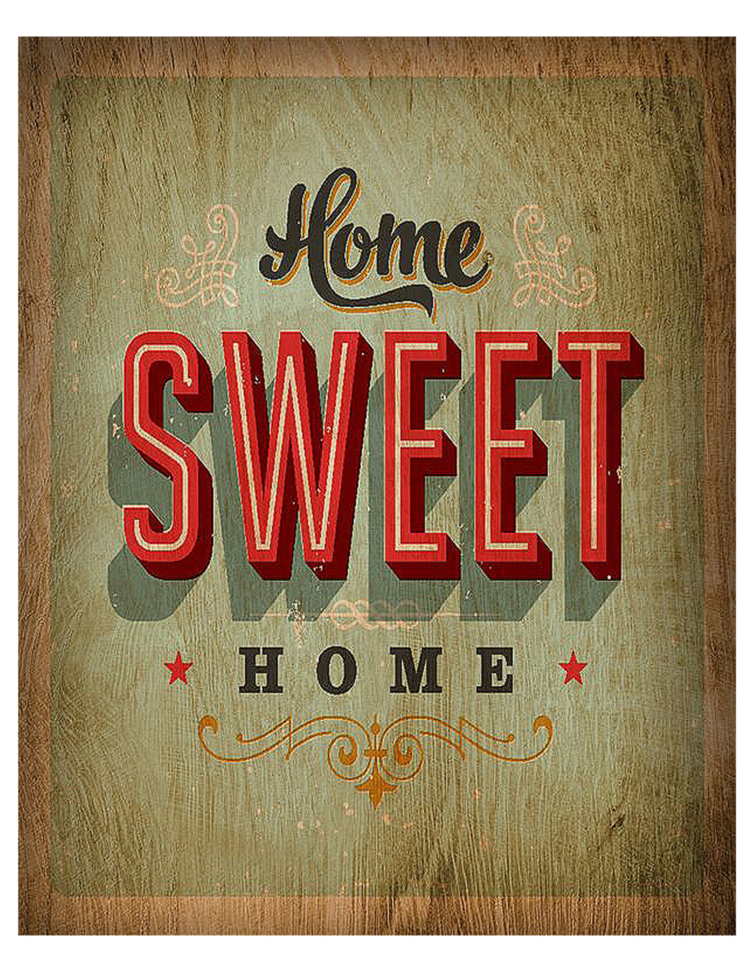 Cuadro home sweet home sobre tabla no disponible en - Sweet home muebles ...