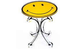 Velador pedestal Smiley