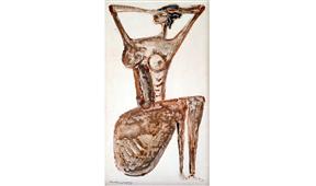 Obra de Ramón Lapayese Desnudo Decorativo