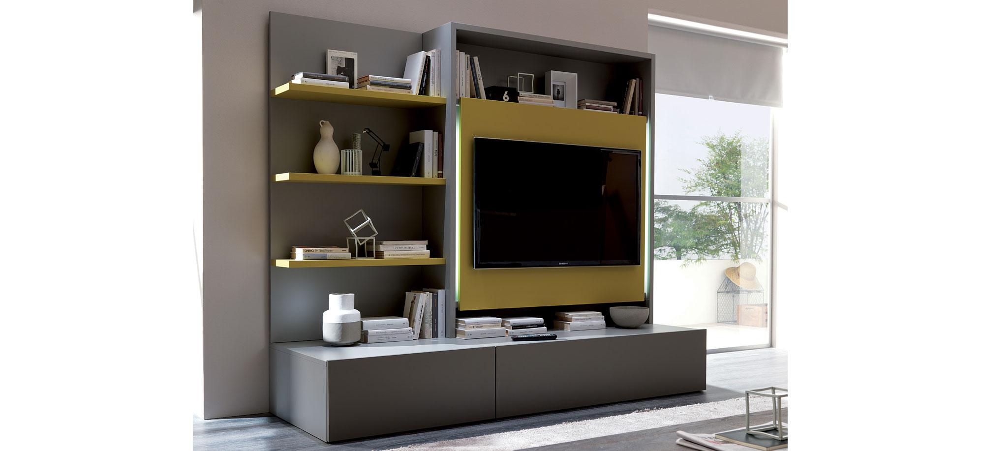Mueble tv moderno smart en cosas de arquitectoscosas de for Muebles de estudio modernos