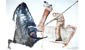 Obra de Ramón Lapayese Toros 1 Decorativo