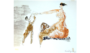 Obra de Ramón Lapayese Maternidad 1 Decorativo