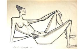 Obra de Ramón Lapayese Desnudo 2 Decorativo