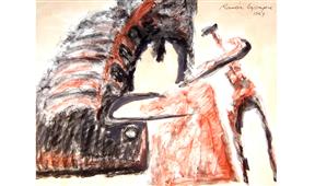 Obra de Ramón Lapayese Toros 3 Decorativo