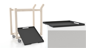 Carrito Barcelona blanco - Muebles Auxiliares de Diseño - Muebles de Diseño