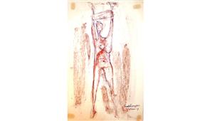 Pintura de Ramón Lapayese Desnudo